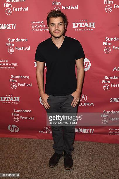 Actor Emile Hirsch attends 'Ten Thousand Saints' Premiereduring the 2015 Sundance Film Festival on January 23 2015 in Park City Utah