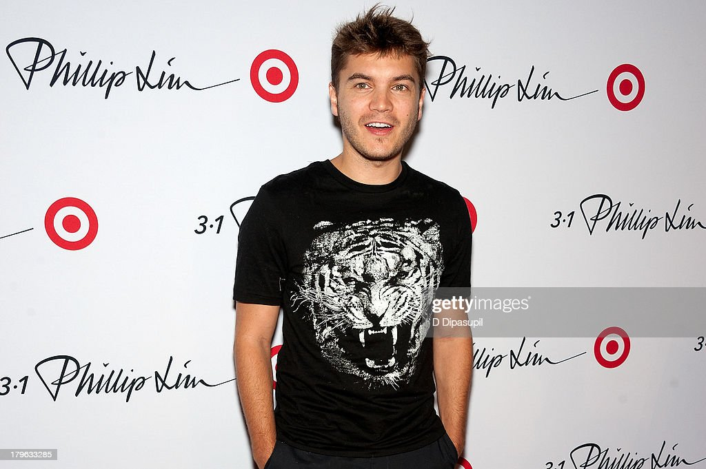 Actor <a gi-track='captionPersonalityLinkClicked' href=/galleries/search?phrase=Emile+Hirsch&family=editorial&specificpeople=210805 ng-click='$event.stopPropagation()'>Emile Hirsch</a> attends the 3.1 Phillip Lim for Target Launch Event at Spring Studio on September 5, 2013 in New York City.