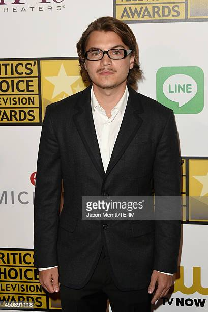 Actor Emile Hirsch attends the 4th Annual Critics' Choice Television Awards at The Beverly Hilton Hotel on June 19 2014 in Beverly Hills California