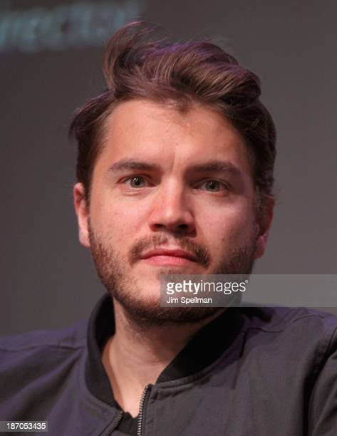 Actor Emile Hirsch attends the Apple Store Soho Presents 'The Motel Life' at Apple Store Soho on November 5 2013 in New York City