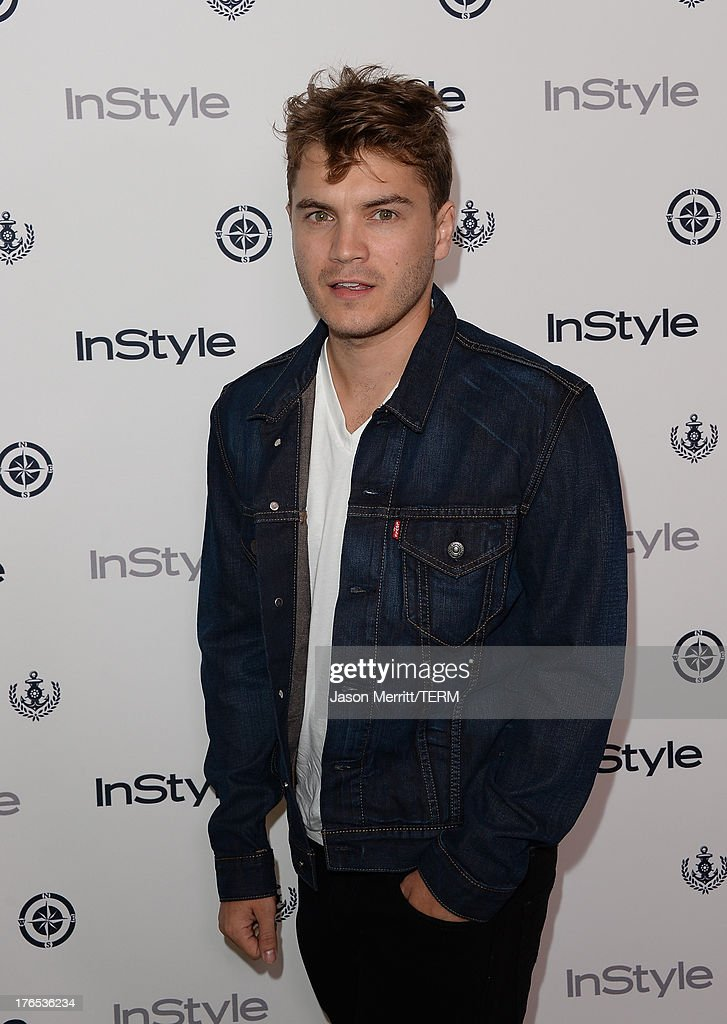 Actor <a gi-track='captionPersonalityLinkClicked' href=/galleries/search?phrase=Emile+Hirsch&family=editorial&specificpeople=210805 ng-click='$event.stopPropagation()'>Emile Hirsch</a> attends the InStyle Summer Soiree held Poolside at the Mondrian hotel on August 14, 2013 in West Hollywood, California.