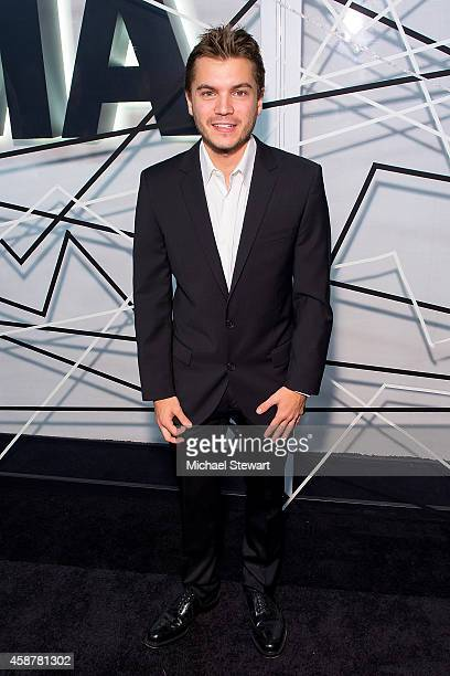 Actor Emile Hirsch attends the Museum of Modern Art Film Benefit's Tribute To Alfonso Cuaron at Museum of Modern Art on November 10 2014 in New York...