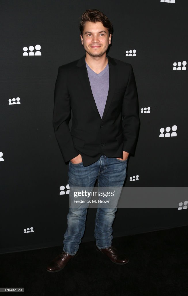 Actor Emile Hirsch attends the Myspace Event at the El Rey Theatre on June 12, 2013 in Los Angeles, California.