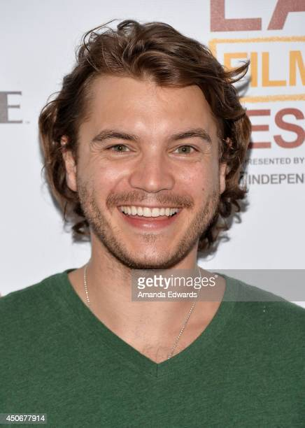 Actor Emile Hirsch attends the premiere of 'Holbrook/Twain An American Odyssey' during the 2014 Los Angeles Film Festival at Regal Cinemas LA Live on...