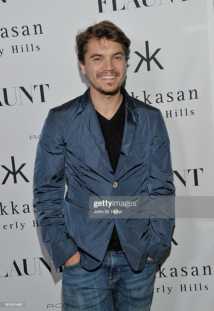 Actor Emile Hirsche attends the Flaunt Magazine En Garde! Issue launch party with Selena Gomez and Amanda De Cadenet at Hakkasan Restaurant Beverly Hills on November 7, 2013 in Beverly Hills, California.