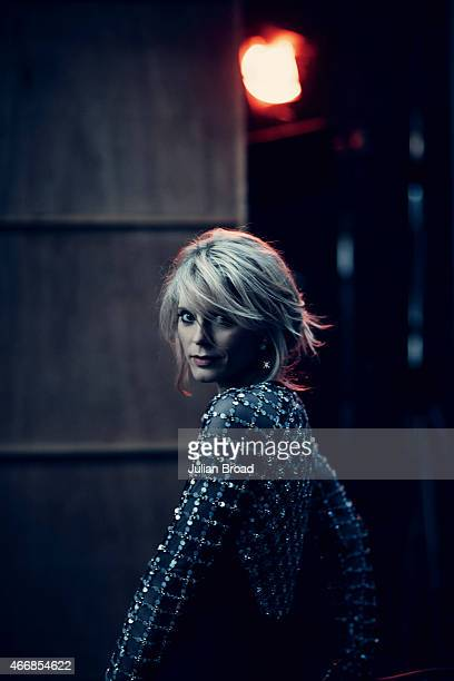 Actor Emilia Fox is photographed for Harrods magazine on November 10 2014 in London England
