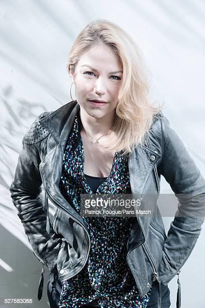 Actor Emilie Dequenne is photographed for Paris Match on April 8 2016 in Paris France