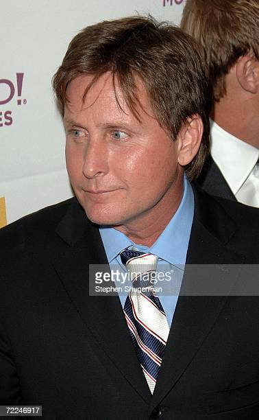 Actor Emilio Estevez poses with the Ensemble award for 'Bobby' in the press room at The Hollywood Film Festival 10th Annual Hollywood Awards Gala...