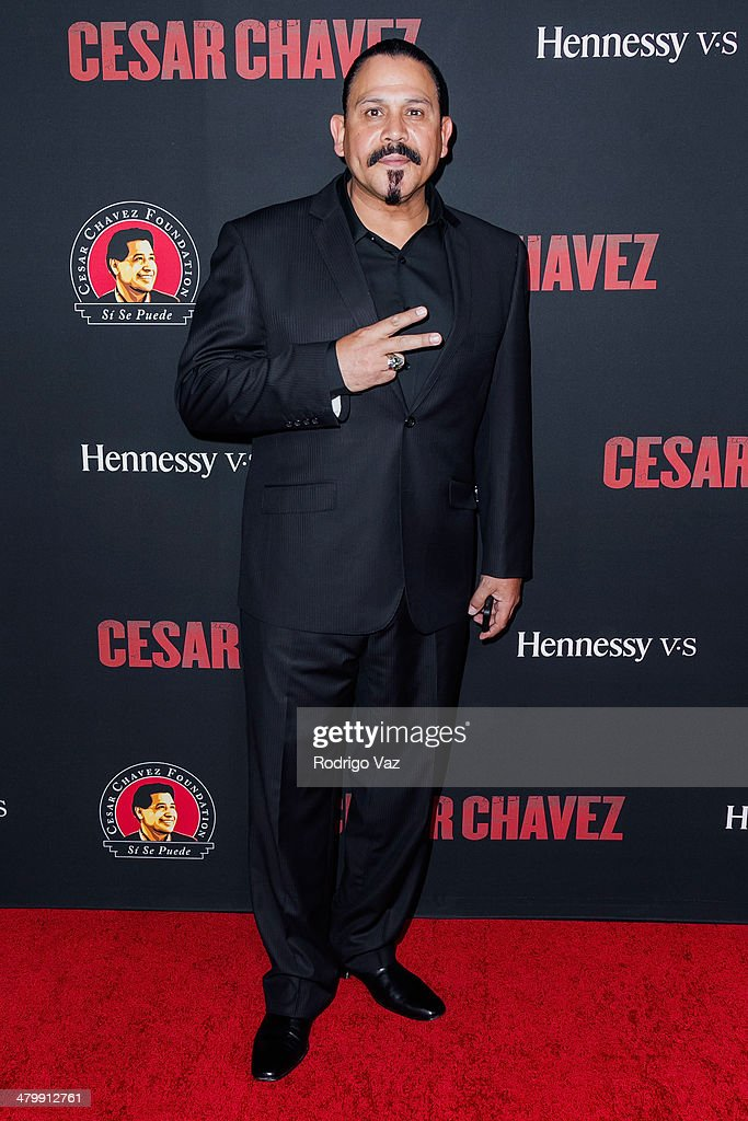 Actor Emilio Rivera attends the 'Cesar Chavez' Los Angeles Premiere at TCL Chinese Theatre on March 20, 2014 in Hollywood, California.