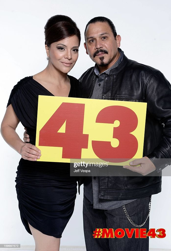 Actor Emilio Rivera (R) poses for a portrait during Relativity Media's 'Movie 43' Los Angeles premiere at TCL Chinese Theatre on January 23, 2013 in Hollywood, California.