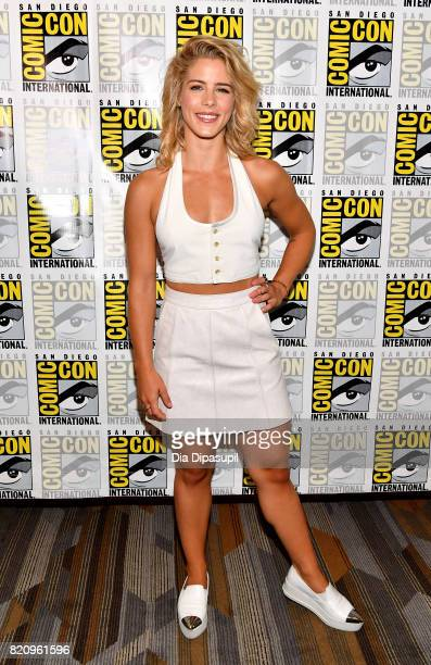 Actor Emily Bett Rickards at the 'Arrow' Press Line during ComicCon International 2017 at Hilton Bayfront on July 22 2017 in San Diego California