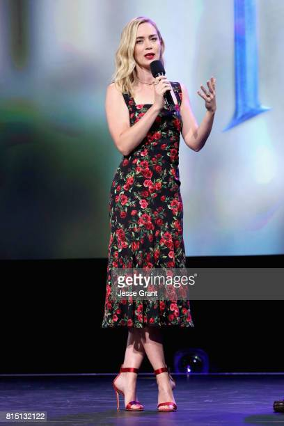 Actor Emily Blunt of MARY POPPINS RETURNS took part today in the Walt Disney Studios live action presentation at Disney's D23 EXPO 2017 in Anaheim...