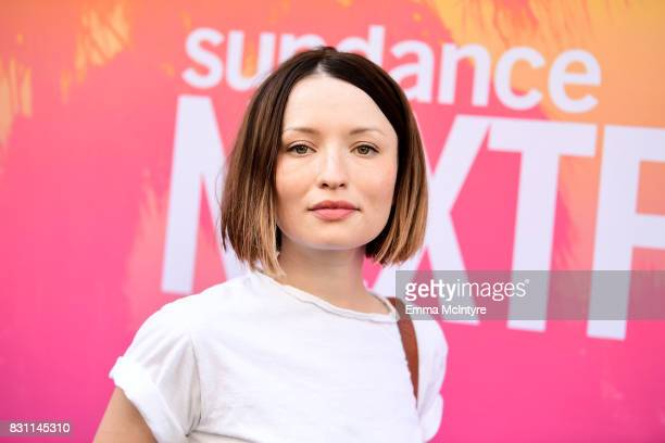 Actor Emily Browning attends 2017 Sundance NEXT FEST at The Theater at The Ace Hotel on August 13 2017 in Los Angeles California