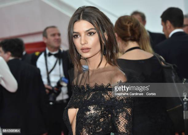 Actor Emily Ratajkowski attends the 'Loveless ' premiere during the 70th annual Cannes Film Festival at Palais des Festivals on May 18 2017 in Cannes...