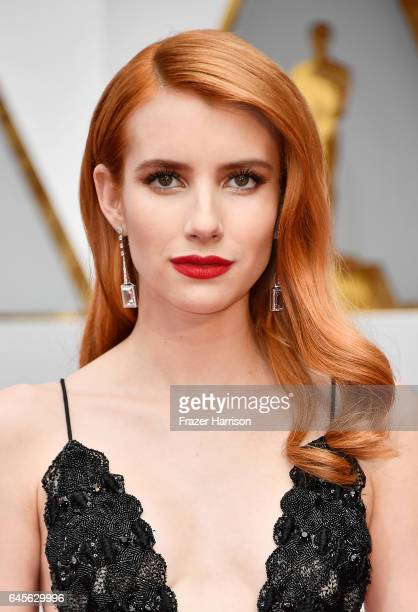 Actor Emma Roberts attends the 89th Annual Academy Awards at Hollywood Highland Center on February 26 2017 in Hollywood California