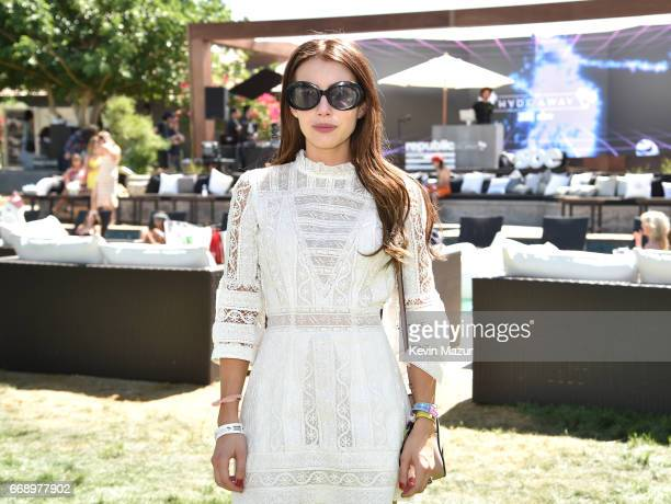 Actor Emma Roberts attends the Republic Records SBE host The Hyde Away presented by Hudson and bareMinerals during Coachella on April 15 2017 in...