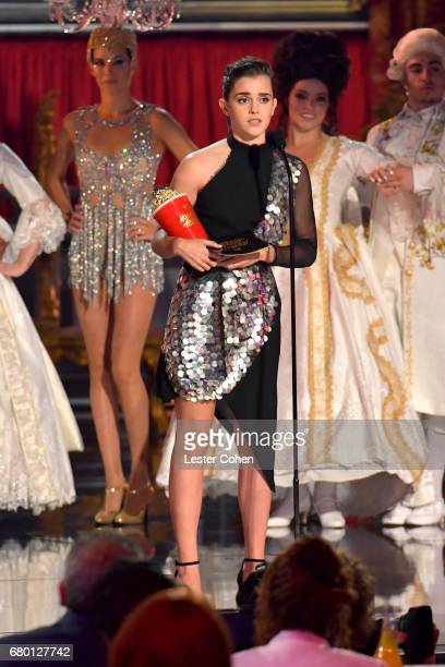 Actor Emma Watson accepts the award for Best Actor in a Movie onstage during the 2017 MTV Movie And TV Awards at The Shrine Auditorium on May 7 2017...