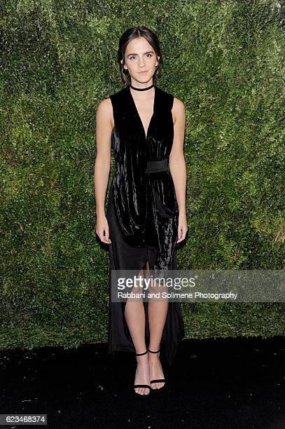 Actor Emma Watson attends the 2016 Museum Of Modern Art Film Benefit presented by Chanel A Tribute To Tom Hanks at Museum of Modern Art on November...