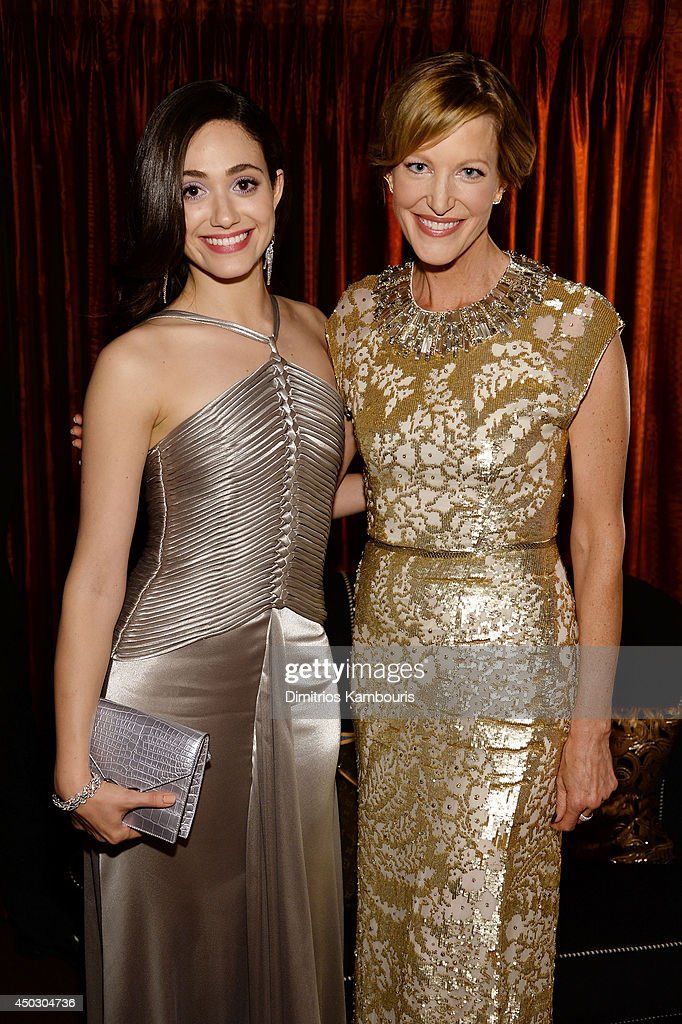 Actor <a gi-track='captionPersonalityLinkClicked' href=/galleries/search?phrase=Emmy+Rossum&family=editorial&specificpeople=202563 ng-click='$event.stopPropagation()'>Emmy Rossum</a> (L) and <a gi-track='captionPersonalityLinkClicked' href=/galleries/search?phrase=Anna+Gunn&family=editorial&specificpeople=589359 ng-click='$event.stopPropagation()'>Anna Gunn</a> attend the 68th Annual Tony Awards at Radio City Music Hall on June 8, 2014 in New York City.