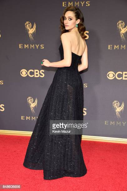 Actor Emmy Rossum attends the 69th Annual Primetime Emmy Awards at Microsoft Theater on September 17 2017 in Los Angeles California