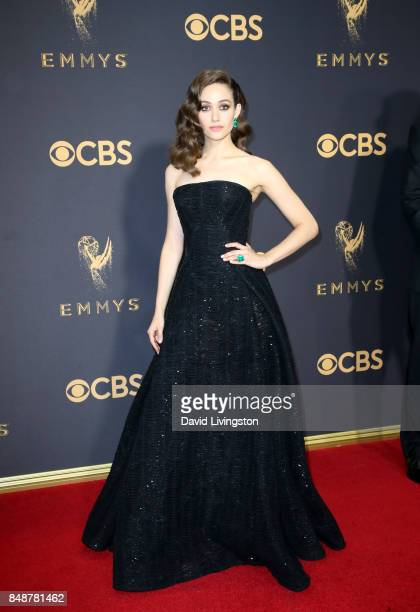 Actor Emmy Rossum attends the 69th Annual Primetime Emmy Awards Arrivals at Microsoft Theater on September 17 2017 in Los Angeles California