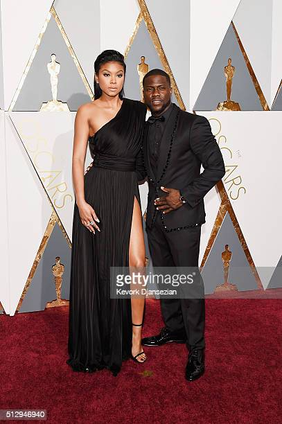 Actor Eniko Parrish and Eniko Parrish attend the 88th Annual Academy Awards at Hollywood Highland Center on February 28 2016 in Hollywood California