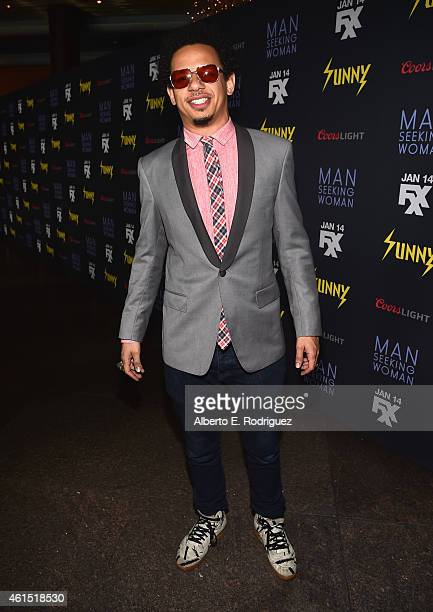 Actor Eric Andre arrives to the premiere of FXX's 'It's Always Sunny in Philadelphia' 10th Season and 'Man Seeking Woman' at DGA Theater on January...