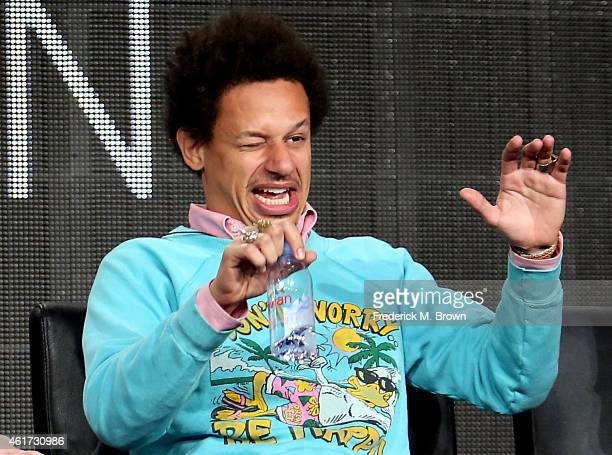 Actor Eric Andre speaks onstage during the 'Man Seeking Woman' panel discussion at the FX Networks portion of the Television Critics Association...