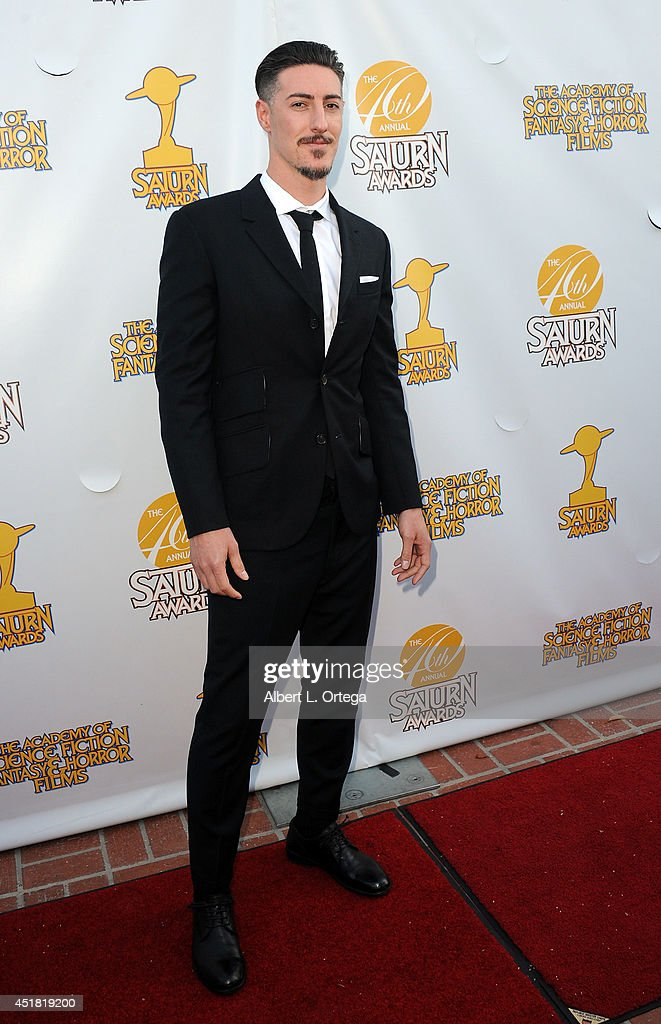 Actor <a gi-track='captionPersonalityLinkClicked' href=/galleries/search?phrase=Eric+Balfour&family=editorial&specificpeople=217555 ng-click='$event.stopPropagation()'>Eric Balfour</a> arrives for the 40th Annual Saturn Awards held at The Castaway on June 26, 2014 in Burbank, California.