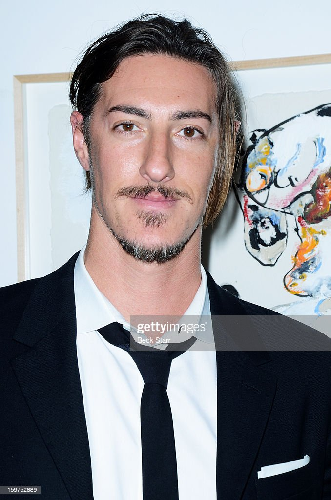 Actor <a gi-track='captionPersonalityLinkClicked' href=/galleries/search?phrase=Eric+Balfour&family=editorial&specificpeople=217555 ng-click='$event.stopPropagation()'>Eric Balfour</a> attends the art exhibition and opening of Alexander Yulish 'Interior Stories' at Gallery Brown on January 19, 2013 in Los Angeles, California.