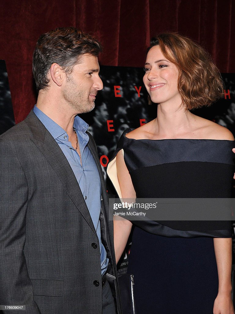 Actor <a gi-track='captionPersonalityLinkClicked' href=/galleries/search?phrase=Eric+Bana&family=editorial&specificpeople=202104 ng-click='$event.stopPropagation()'>Eric Bana</a> (L) and actress <a gi-track='captionPersonalityLinkClicked' href=/galleries/search?phrase=Rebecca+Hall&family=editorial&specificpeople=778176 ng-click='$event.stopPropagation()'>Rebecca Hall</a> attend the 'Closed Circuit' screening at Tribeca Grand Hotel - Screening Room on August 19, 2013 in New York City.