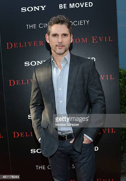 Actor Eric Bana attends the 'Deliver Us From Evil' screening hosted by Screen Gems Jerry Bruckheimer Films with The Cinema Society at SVA Theater on...