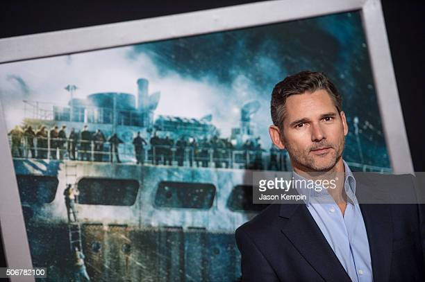 Actor Eric Bana attends the premiere of Disney's 'The Finest Hours' at TCL Chinese Theatre on January 25 2016 in Hollywood California