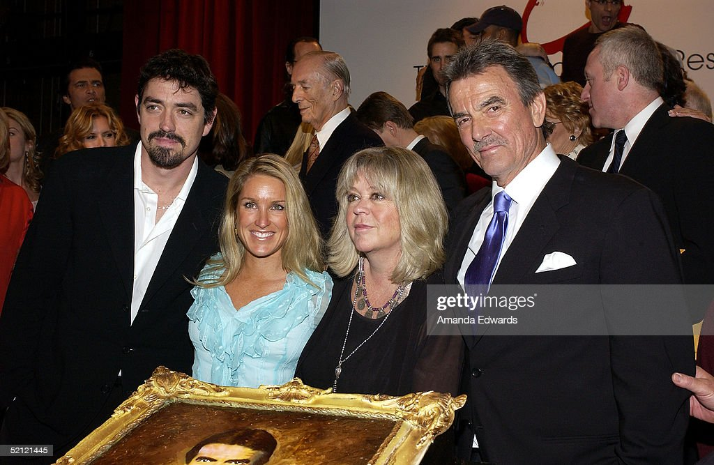 Actor Eric Braeden, Dale Gudegast, Stacey Gudegast and Christian Gudegast celebrate Braeden's 25th anniversary playing legendary character Victor Newman on 'The Young and The Restless' at a special ceremony on February 1, 2005 at CBS Television City in Los Angeles, California.