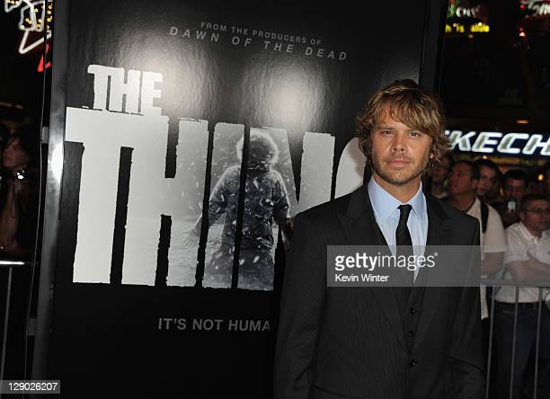 Actor Eric Christian Olsen arrives at the premiere of Universal Pictures' 'The Thing' at Universal Studios Hollywood on October 10 2011 in Universal...
