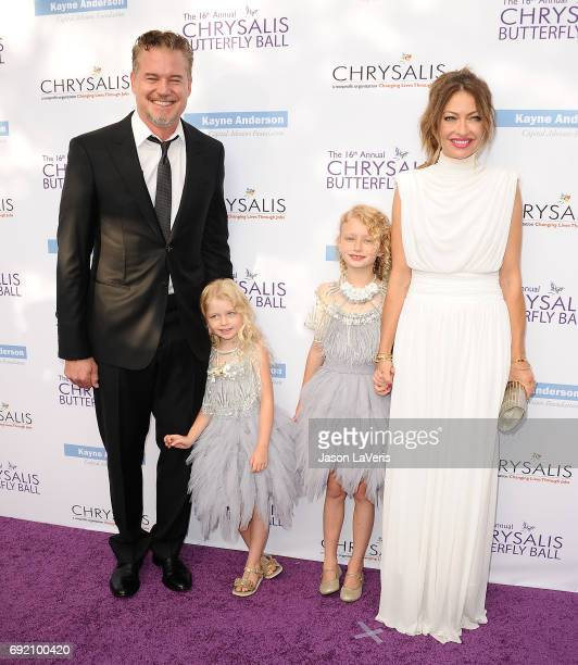 Actor Eric Dane actress Rebecca Gayheart and daughters Billie Beatrice Dane and Georgia Dane attend the 16th annual Chrysalis Butterfly Ball on June...