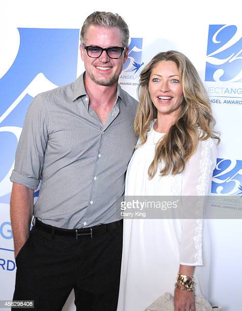 Actor Eric Dane and actress Rebecca Gayheart arrive for Project Angel Food Celebrates 25 Years With 2014 Angel Awards at Project Angel Food on...