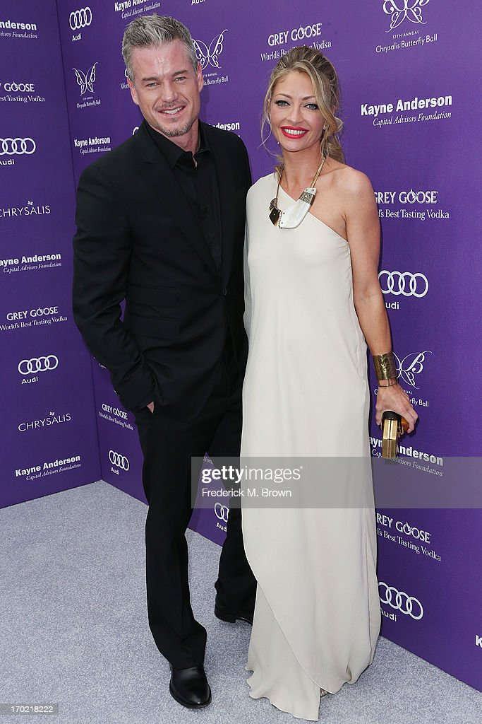 Actor <a gi-track='captionPersonalityLinkClicked' href=/galleries/search?phrase=Eric+Dane&family=editorial&specificpeople=707708 ng-click='$event.stopPropagation()'>Eric Dane</a> (L) and actress <a gi-track='captionPersonalityLinkClicked' href=/galleries/search?phrase=Rebecca+Gayheart&family=editorial&specificpeople=204784 ng-click='$event.stopPropagation()'>Rebecca Gayheart</a> attend the 12th Annual Chrysalis Butterfly Ball on June 8, 2013 in Los Angeles, California.