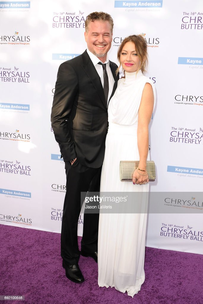 Actor Eric Dane and actress Rebecca Gayheart attend the 16th annual Chrysalis Butterfly Ball on June 3, 2017 in Brentwood, California.