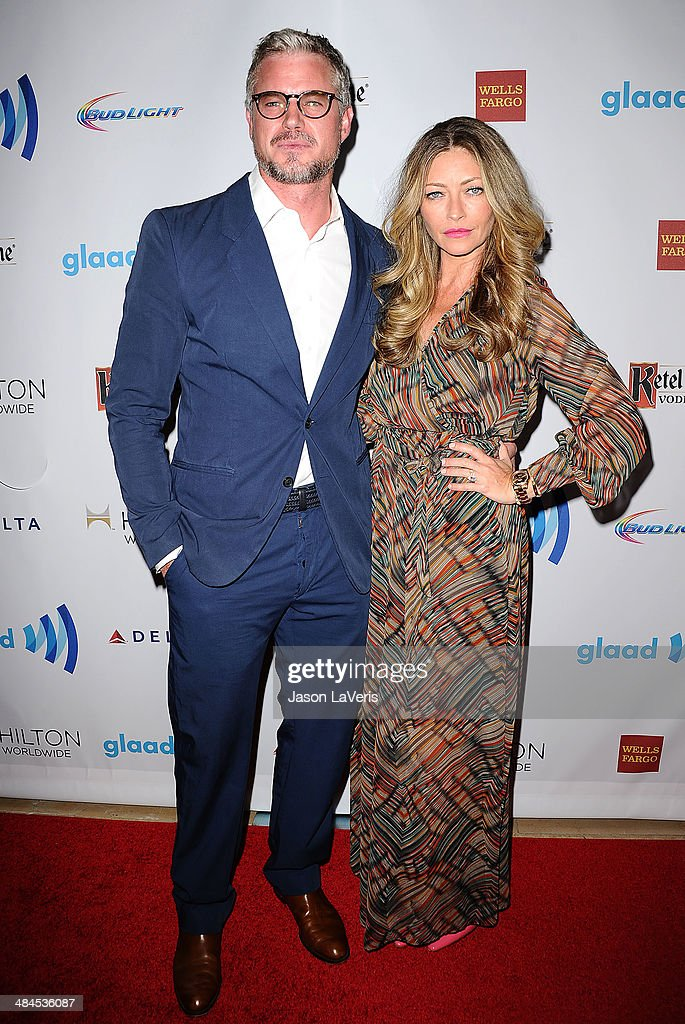 Actor <a gi-track='captionPersonalityLinkClicked' href=/galleries/search?phrase=Eric+Dane&family=editorial&specificpeople=707708 ng-click='$event.stopPropagation()'>Eric Dane</a> and actress <a gi-track='captionPersonalityLinkClicked' href=/galleries/search?phrase=Rebecca+Gayheart&family=editorial&specificpeople=204784 ng-click='$event.stopPropagation()'>Rebecca Gayheart</a> attend the 25th annual GLAAD Media Awards at The Beverly Hilton Hotel on April 12, 2014 in Beverly Hills, California.