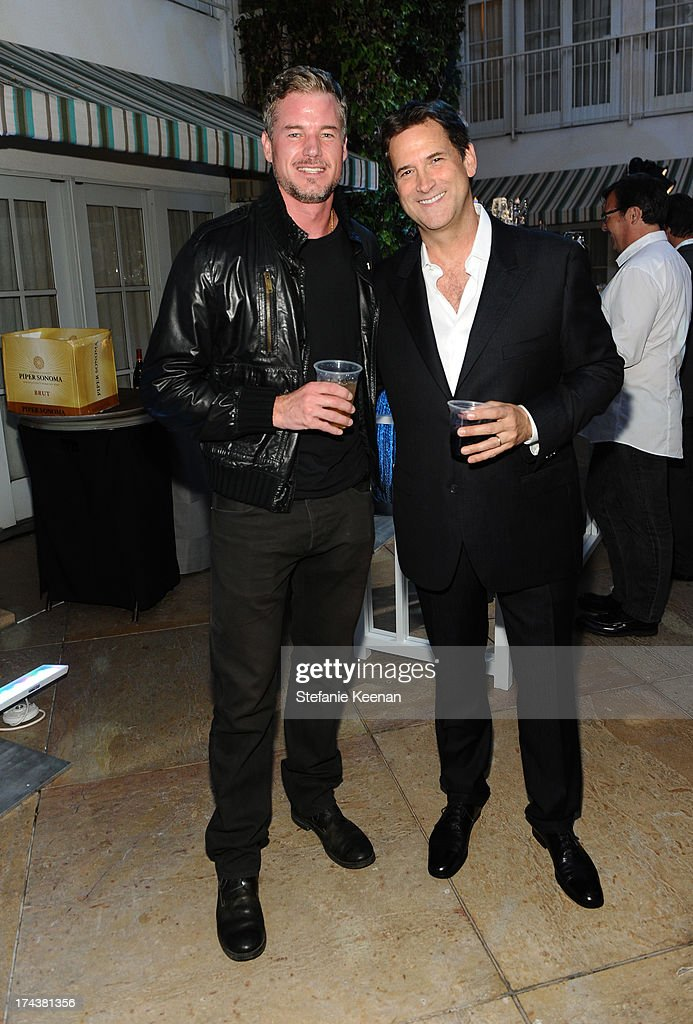 Actor Eric Dane and Michael Wright, President, Head of Programming TNT, TBS & TCM attend TNT 25TH Anniversary Party during Turner Broadcasting's 2013 TCA Summer Tour at The Beverly Hilton Hotel on July 24, 2013 in Beverly Hills, California.