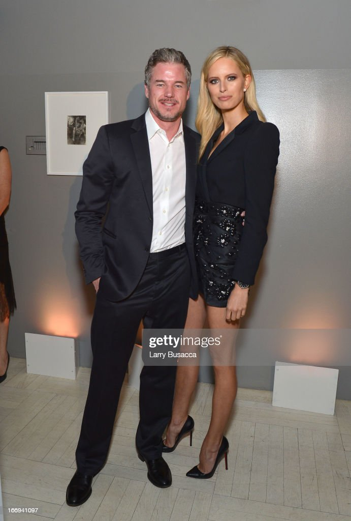 Actor <a gi-track='captionPersonalityLinkClicked' href=/galleries/search?phrase=Eric+Dane&family=editorial&specificpeople=707708 ng-click='$event.stopPropagation()'>Eric Dane</a> and Model Karolina Kurkov attend IWC and Tribeca Film Festival Celebrate 'For the Love of Cinema' on April 18, 2013 in New York City.