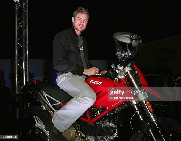 Actor Eric Dane attends a party introducing the Ducati Hypermotard motorcycle at the Beverly Center on June 3 2007 in Los Angeles California