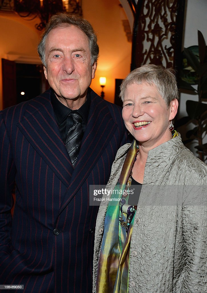 Actor <a gi-track='captionPersonalityLinkClicked' href=/galleries/search?phrase=Eric+Idle&family=editorial&specificpeople=213355 ng-click='$event.stopPropagation()'>Eric Idle</a> and Consul-General Dame Barbara Hay attend a reception honoring Keira Knightly at British Consulate LA with Focus Features and British Film Commission on November 15, 2012 in Los Angeles, California.