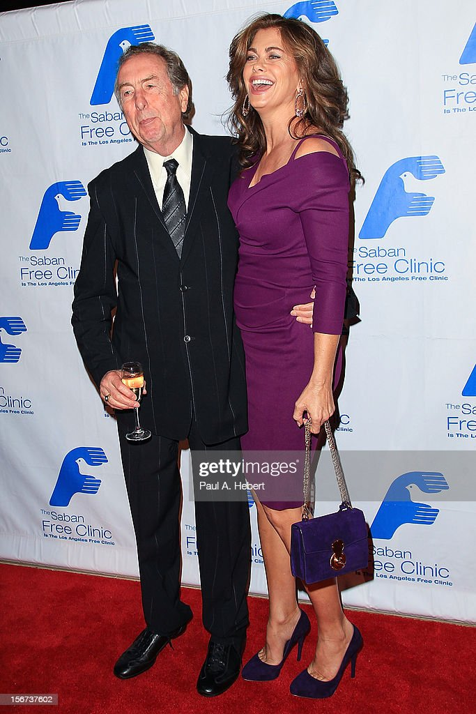 Actor Eric Idle and model Kathy Ireland arrive at The Saban Free Clinic's Gala Honoring ABC Entertainment Group President Paul Lee and Bob Broder at The Beverly Hilton Hotel on November 19, 2012 in Beverly Hills, California.