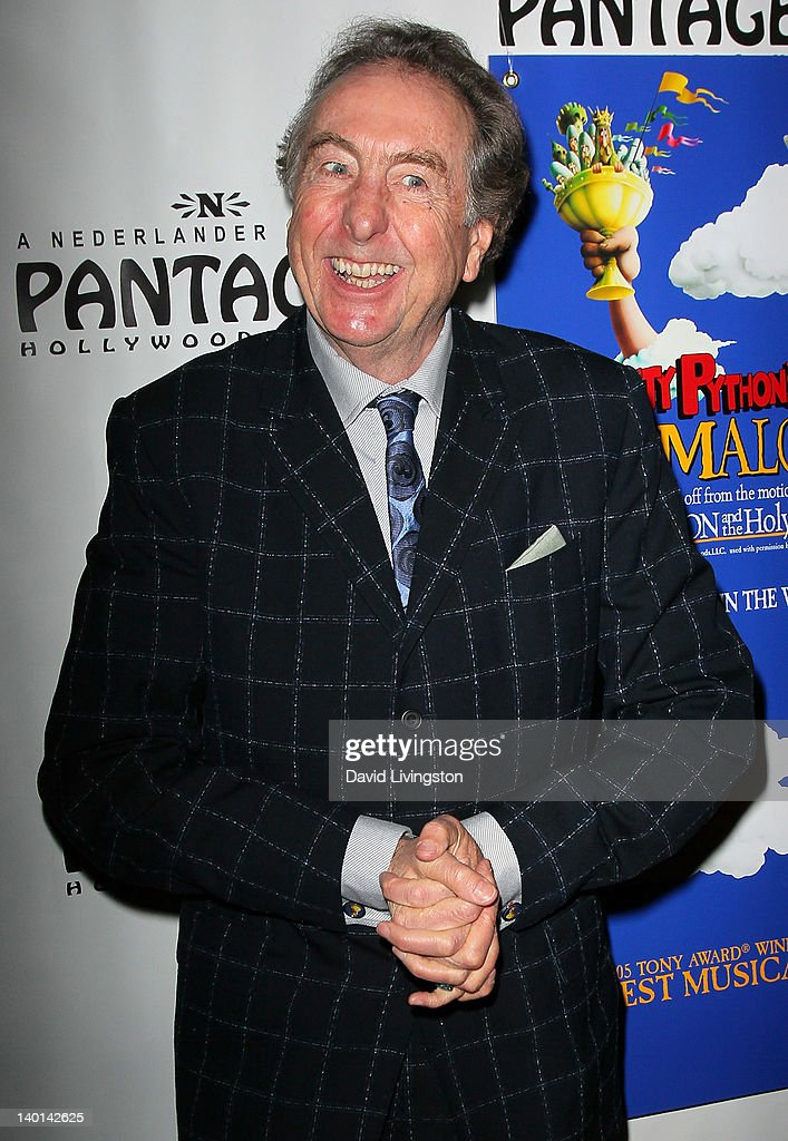 Actor <a gi-track='captionPersonalityLinkClicked' href=/galleries/search?phrase=Eric+Idle&family=editorial&specificpeople=213355 ng-click='$event.stopPropagation()'>Eric Idle</a> attends the opening night of 'Monty Python's Spamalot' at the Pantages Theatre on February 28, 2012 in Hollywood, California.