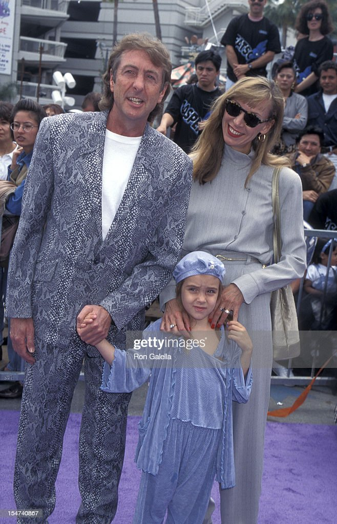 Actor Eric Idle wife Tanya Kosevic and daughter Lily Idle attends the world premiere of 'Casper' on May 21 1995 at the Cinerama Dome Theater in...