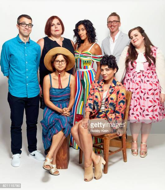 Actor Eric Knobel cocreator/comic strip author Shadi Petosky actor Stephanie Beatriz director Mike Owens actor Aidy Bryant and actors Charlyne Yi and...
