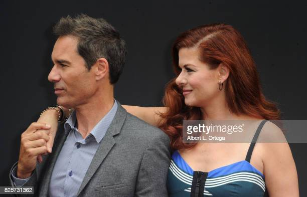 Actor Eric McCormack and actress Debra Messing at the 'Will Grace' Ribbon Cutting Ceremony held on August 2 2017 in Los Angeles California
