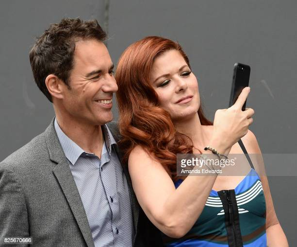 Actor Eric McCormack and actress Debra Messing attend the 'Will Grace' start of production kick off event and ribbon cutting ceremony at Universal...